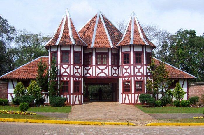 Imagem da entrada do Parque Histórico de Lajeado